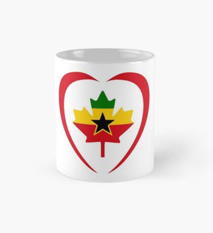 Ghanaian Canadian Multinational Patriot Flag Series (Heart) Mug