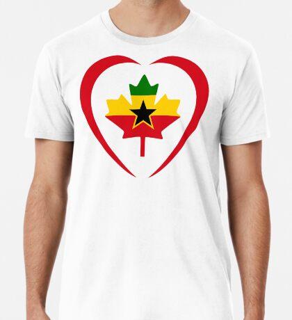 Ghanaian Canadian Multinational Patriot Flag Series (Heart) Premium T-Shirt
