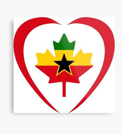Ghanaian Canadian Multinational Patriot Flag Series (Heart) Metal Print