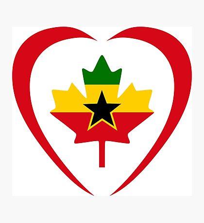 Ghanaian Canadian Multinational Patriot Flag Series (Heart) Photographic Print