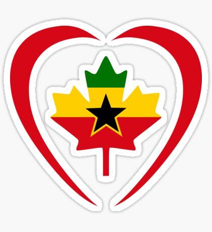 Ghanaian Canadian Multinational Patriot Flag Series (Heart) Sticker
