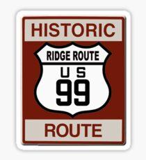 Ridge Route Highway 99 Sticker
