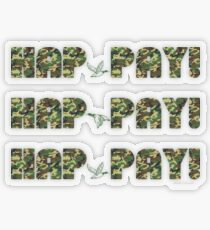 HAP-PAY HAP-PAY HAP-PAY DUCKS Transparent Sticker