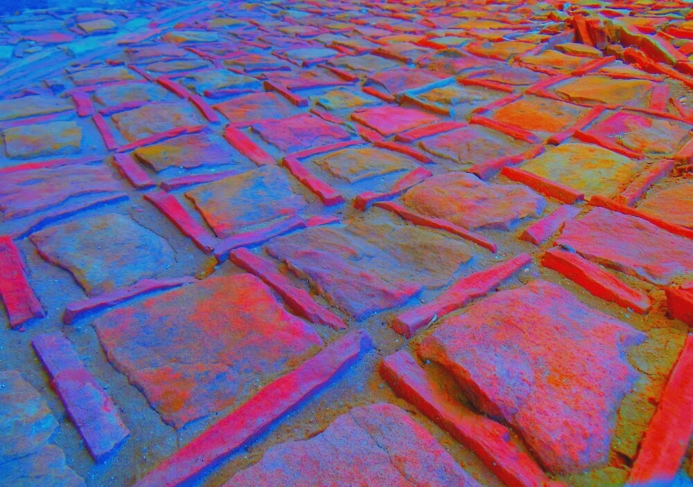 Square Stones Pathway Number 27 by Mike Solomonson