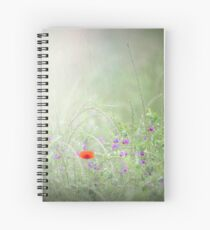 Rain on Poppies and Sweet Peas Spiral Notebook