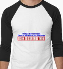 Government Fear Men's Baseball ¾ T-Shirt
