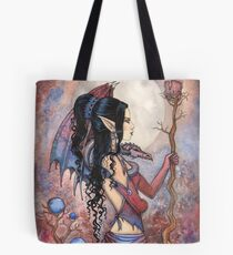 Dragon Girl Gothic Fantasy Art by Molly Harrison Tote Bag