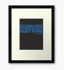 Political Language Framed Print
