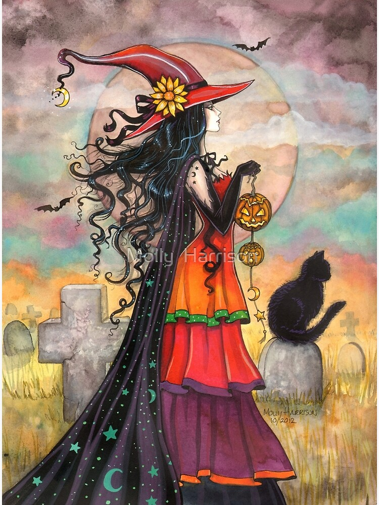 Fantasy Art Witch Cat