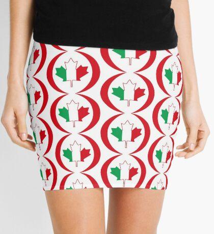 Italian Canadian Multinational Patriot Flag Series Mini Skirt