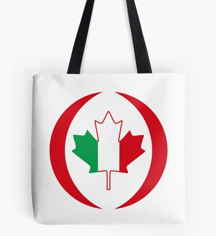 Italian Canadian Multinational Patriot Flag Series Tote Bag
