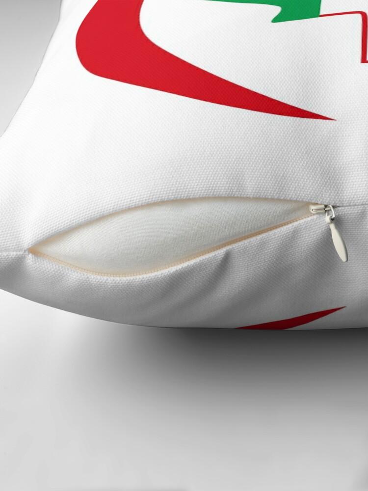 Alternate view of Italian Canadian Multinational Patriot Flag Series Throw Pillow