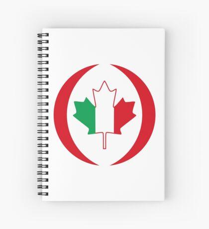 Italian Canadian Multinational Patriot Flag Series Spiral Notebook