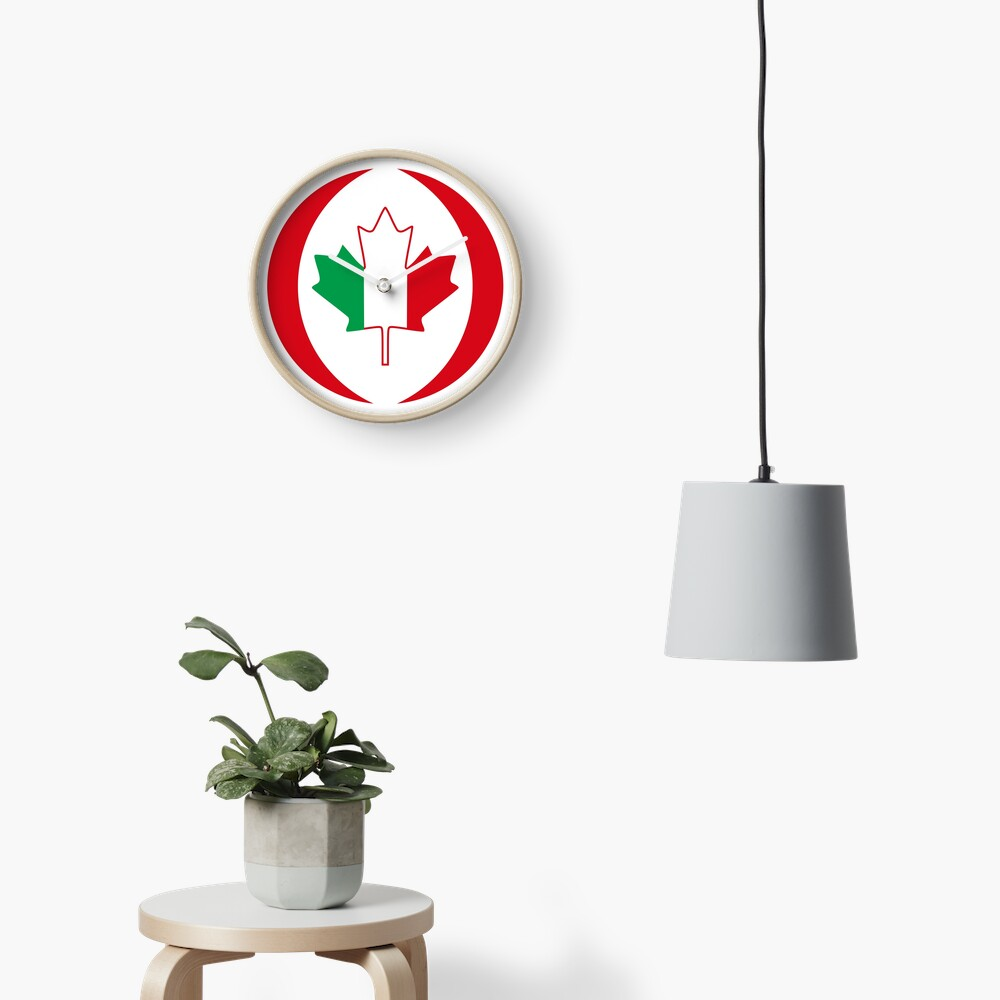 Italian Canadian Multinational Patriot Flag Series Clock