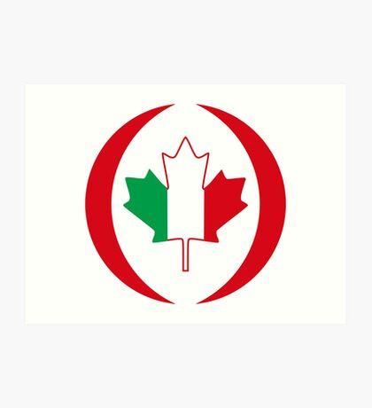 Italian Canadian Multinational Patriot Flag Series Art Print