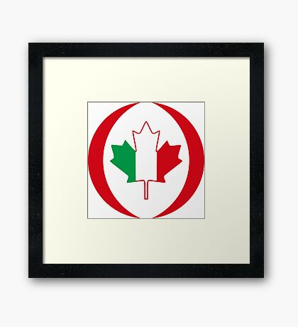 Italian Canadian Multinational Patriot Flag Series Framed Print