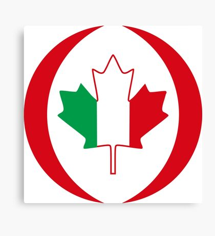 Italian Canadian Multinational Patriot Flag Series Canvas Print