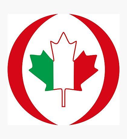Italian Canadian Multinational Patriot Flag Series Photographic Print