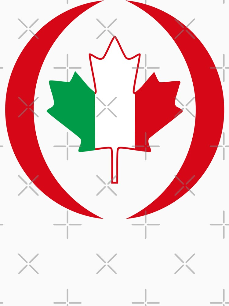 Italian Canadian Multinational Patriot Flag Series by carbonfibreme