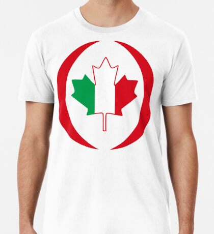 Italian Canadian Multinational Patriot Flag Series Premium T-Shirt