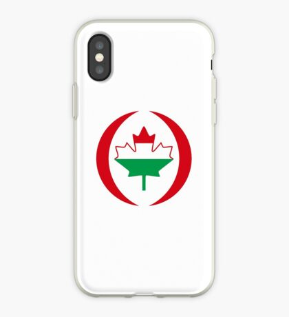 Hungarian Canadian Multinational Patriot Flag Series iPhone Case