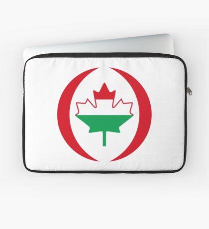 Hungarian Canadian Multinational Patriot Flag Series Laptop Sleeve