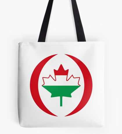 Hungarian Canadian Multinational Patriot Flag Series Tote Bag