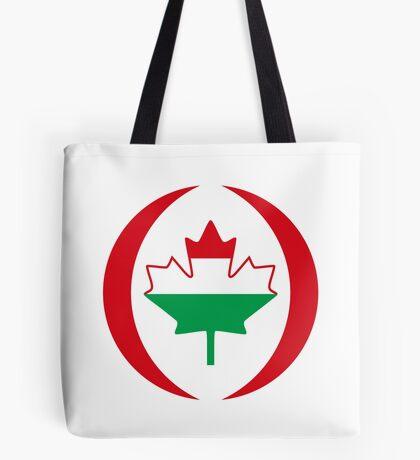 Hungarian Canadian Multinational Patriot Flag Series Tote Bag