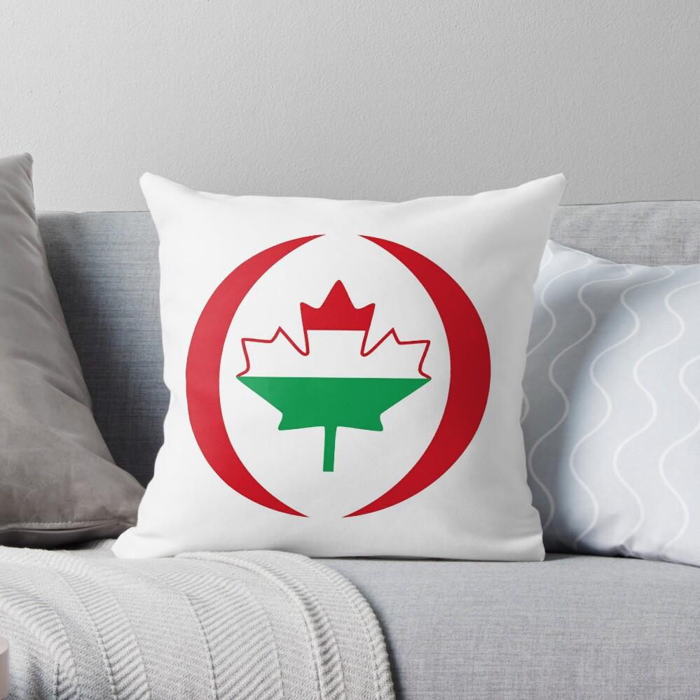 Hungarian Canadian Multinational Patriot Flag Series Throw Pillow
