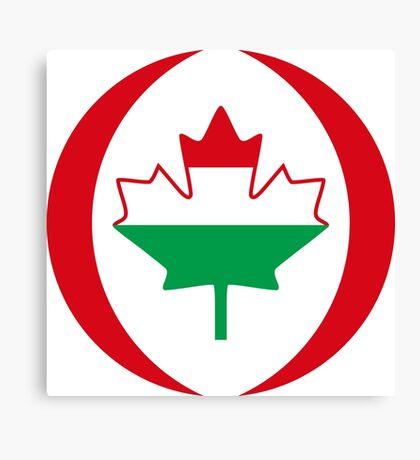 Hungarian Canadian Multinational Patriot Flag Series Canvas Print