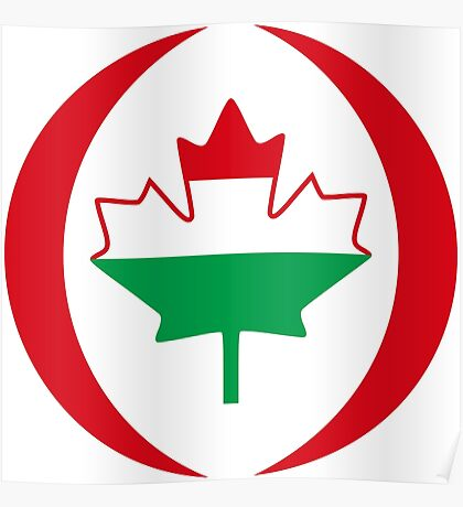 Hungarian Canadian Multinational Patriot Flag Series Poster