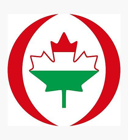Hungarian Canadian Multinational Patriot Flag Series Photographic Print