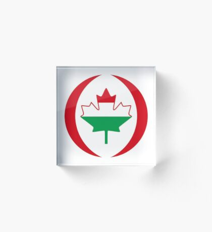 Hungarian Canadian Multinational Patriot Flag Series Acrylic Block