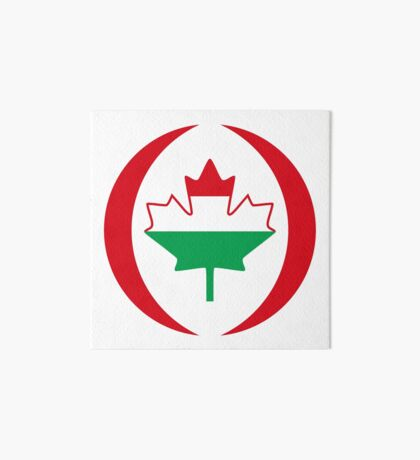 Hungarian Canadian Multinational Patriot Flag Series Art Board Print