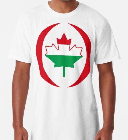 Hungarian Canadian Multinational Patriot Flag Series Long T-Shirt