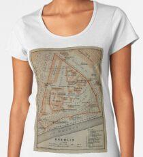 Vintage Karte des Kremls in Moskau (1914) Premium Rundhals-Shirt