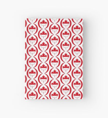 Indonesian Canadian Multinational Patriot Flag Series Hardcover Journal