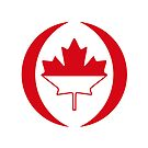 Indonesian Canadian Multinational Patriot Flag Series by Carbon-Fibre Media