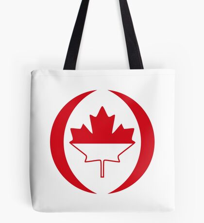 Indonesian Canadian Multinational Patriot Flag Series Tote Bag