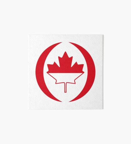 Indonesian Canadian Multinational Patriot Flag Series Art Board Print
