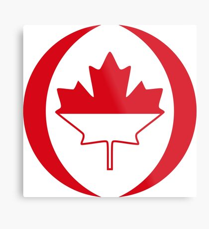 Indonesian Canadian Multinational Patriot Flag Series Metal Print