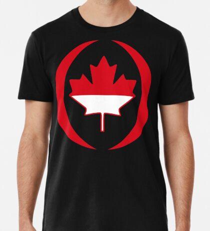 Indonesian Canadian Multinational Patriot Flag Series Premium T-Shirt