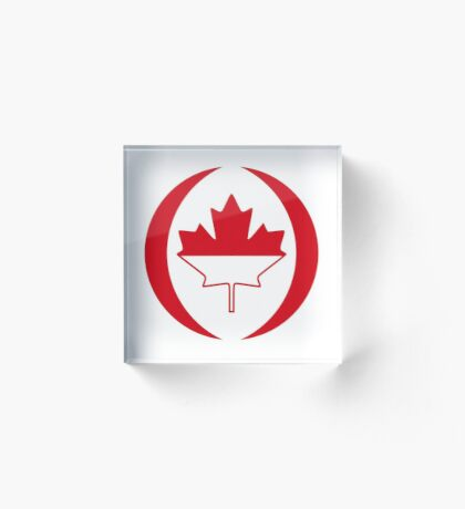 Indonesian Canadian Multinational Patriot Flag Series Acrylic Block