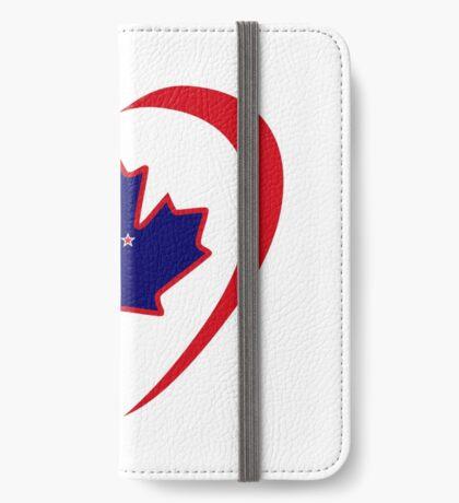 Kiwi Canadian Multinational Patriot Flag Series (Heart) iPhone Wallet