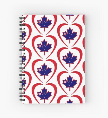 Kiwi Canadian Multinational Patriot Flag Series (Heart) Spiral Notebook