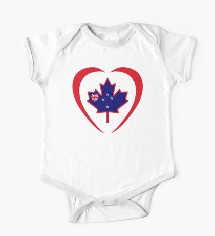 Kiwi Canadian Multinational Patriot Flag Series (Heart) Kids Clothes