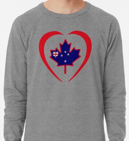 Kiwi Canadian Multinational Patriot Flag Series (Heart) Lightweight Sweatshirt