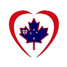Kiwi Canadian Multinational Patriot Flag Series (Heart) by Carbon-Fibre Media
