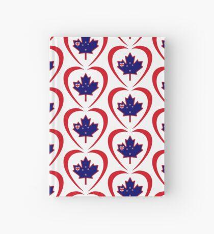 Kiwi Canadian Multinational Patriot Flag Series (Heart) Hardcover Journal
