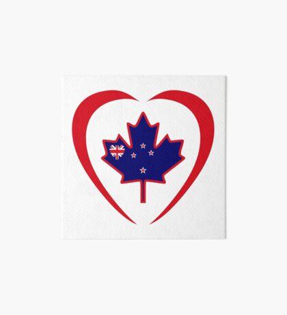 Kiwi Canadian Multinational Patriot Flag Series (Heart) Art Board Print